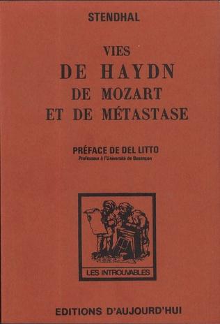 Couverture VIES DE HAYDN MOZART ET  DE METASTASE