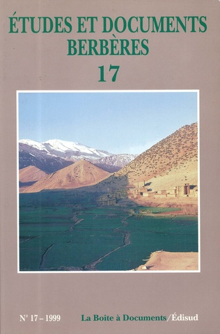 Couverture Études et documents berbères N° 17