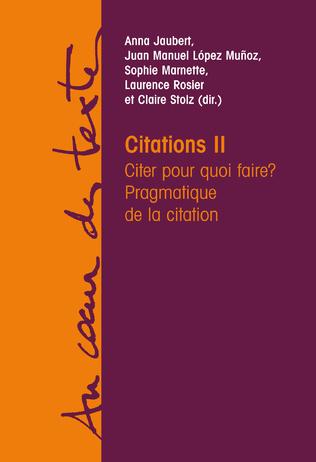 Couverture Citations II