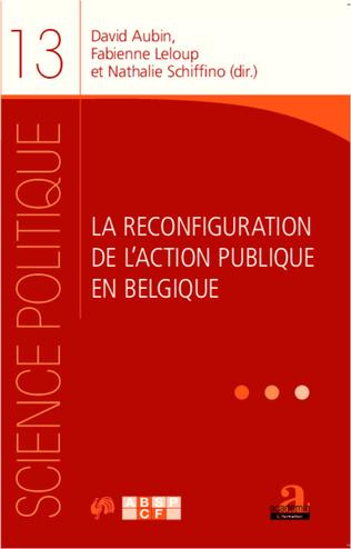 Couverture La reconfiguration de l'action publique
