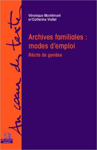 Couverture Archives familiales : mode d'emploi