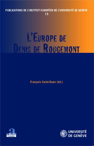 Couverture L'Europe de Denis de Rougemont