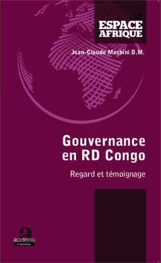 Couverture Gouvernance en RD Congo