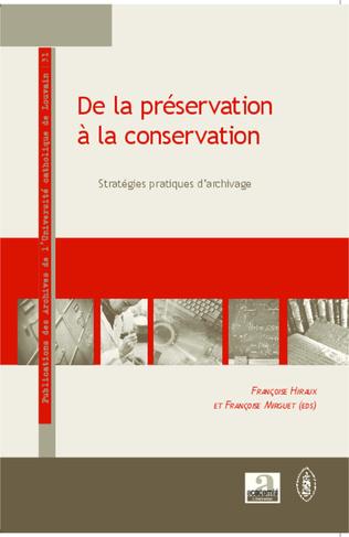 Couverture De la préservation à la conservation