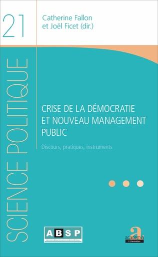 Couverture CRISE DE LA DEMOCRATIE ET NOUVEAU MANAGEMENT PUBLIC