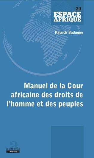 Couverture Manuel de la Cour africaine des droits de l'homme et des peuples