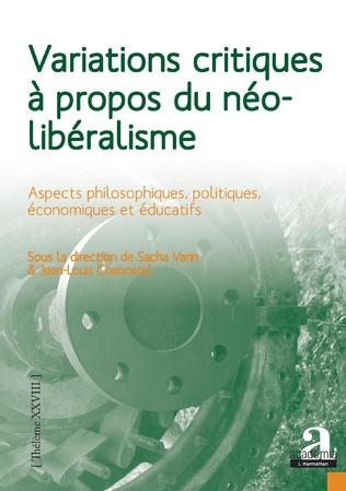 Couverture Variations critiques à propos du néolibéralisme