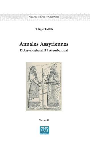 Couverture Annales Assyriennes (Volume II)