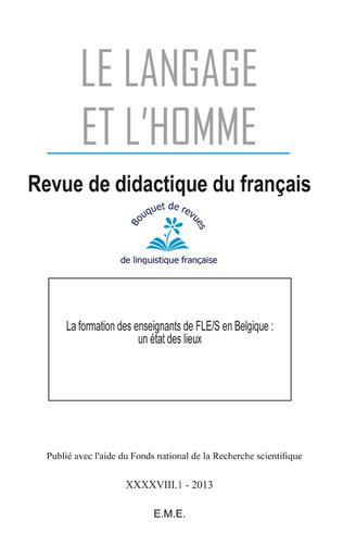 Couverture La formation des enseignants de FLE/S en Belgique : un état des lieux