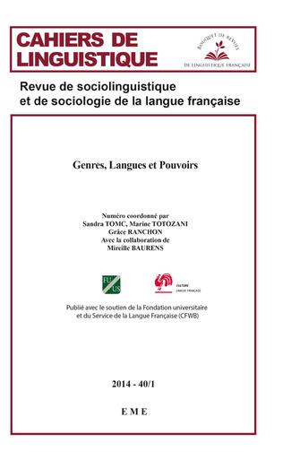 Couverture Genres, Langues et Pouvoirs