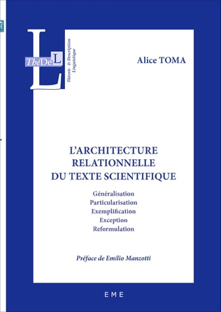 Couverture L'architecture relationnelle du texte scientifique