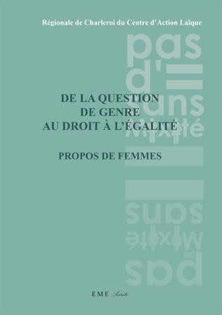 Couverture De la question de genre au droit à L'égalité
