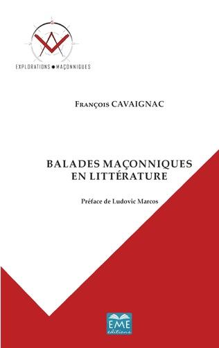 Couverture Balades maçonniques en littérature