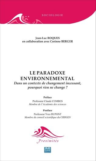 Couverture Le paradoxe environnemental