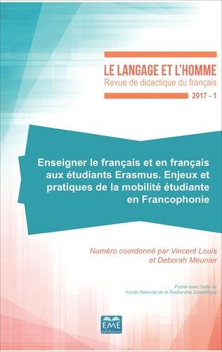Couverture Enseigner le français et en français aux étudiants Erasmus