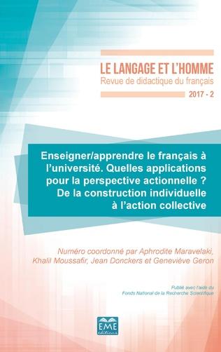 Couverture Enseigner/apprendre le français à l'université. Quelles applications pour la perspective actionnelle ?