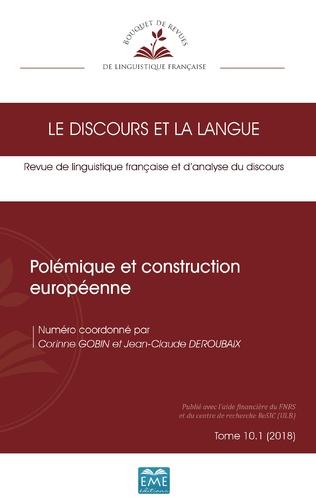 Couverture Polémique et construction européenne