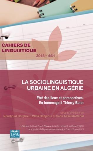 Couverture La sociolinguistique urbaine en Algérie