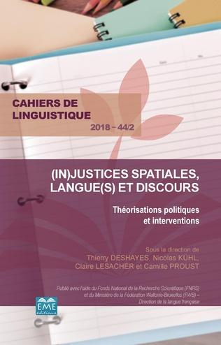 Couverture (In)justices spatiales, langue(s) et discours