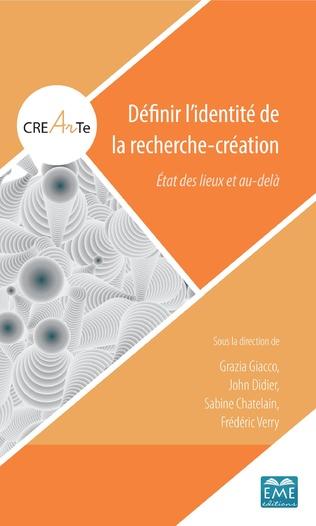 Couverture Définir l'identité de la recherche-création