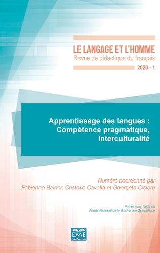 Couverture Apprentissage des langues: Compétence pragmatique, Interculturalité