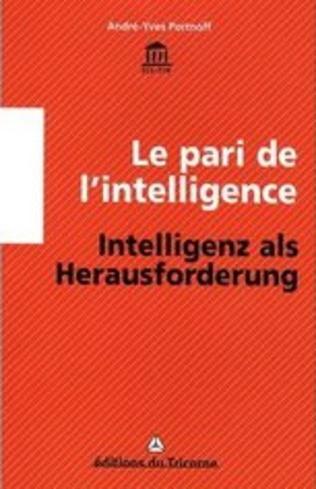Couverture Le pari de l'intelligence