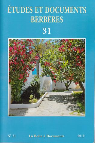 Couverture Etudes et documents berbères 31