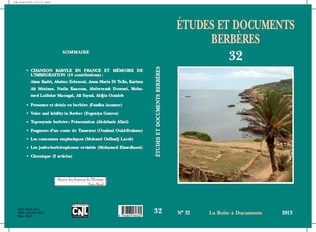 Couverture Etudes et documents berbères 32