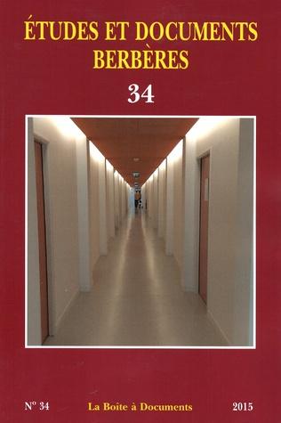 Couverture Etudes et documents berbères 34