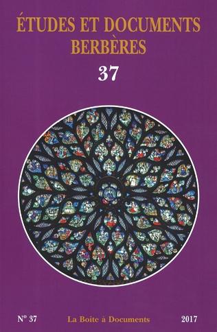 Couverture Études et documents berbères n°37 - 2017