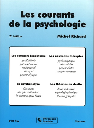 Couverture Les courants de la psychologie