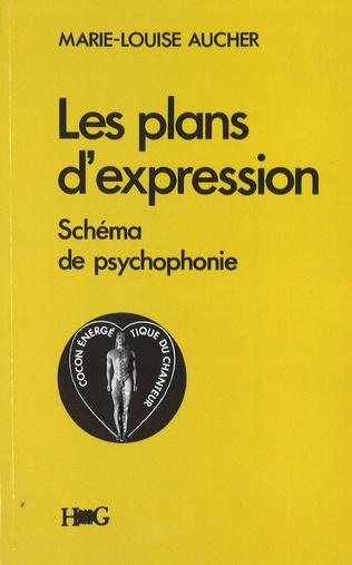 Couverture Les plans d'expression, schéma de psychophonie