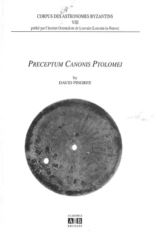 Couverture Preceptum canonis Ptolemei