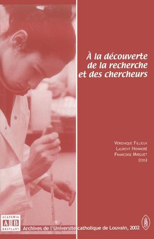 Couverture A la découverte de la recherche et des chercheurs