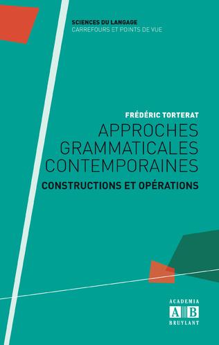 Couverture Approches grammaticales contemporaines