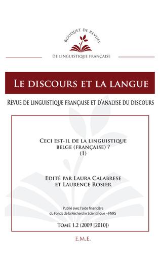 Couverture Ceci est-il de la linguistique belge (française) ?