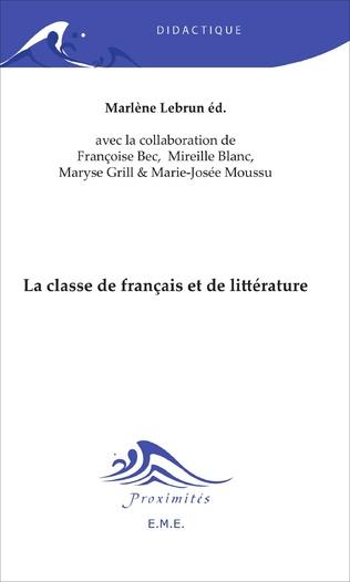 Couverture La classe de français et de littérature