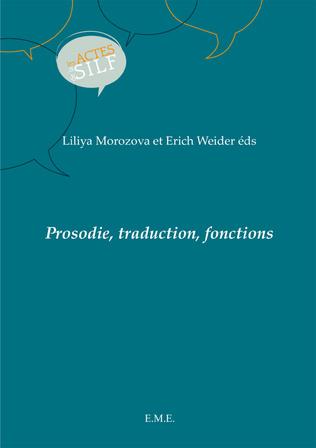Couverture Prosodie, traduction, fonctions