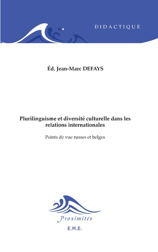 Couverture Plurilinguisme et diversité interculturelle dans les relations internationales