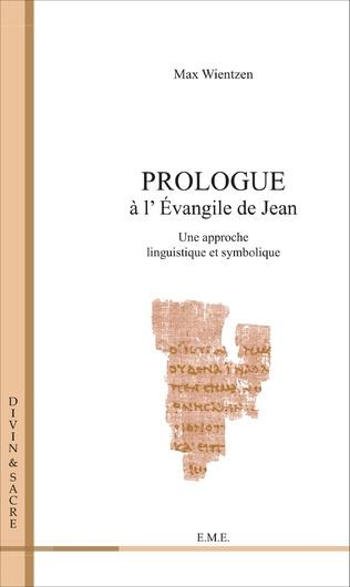 Couverture Prologue a l'évangile de Jean