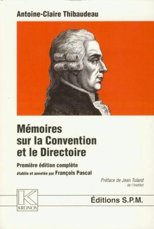 Couverture Mémoires sur la Convention et le Directoire
