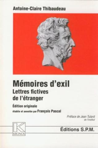 Couverture Mémoires d'exil