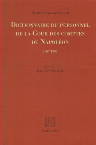 Couverture Dictionnaire du personnel de la Cour des Comptes de Napoléon