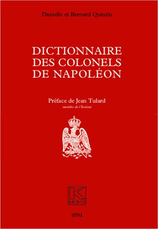 Couverture Dictionnaire des colonels de Napoléon