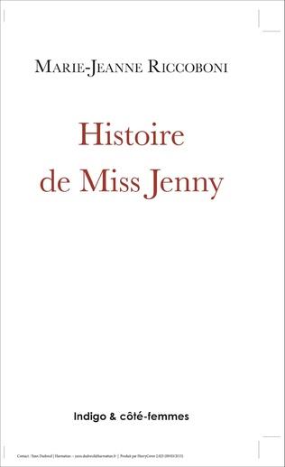 Couverture Histoire de Miss Jenny