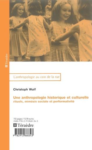 Couverture Anthropologie historique et culturelle