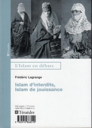 Couverture Islam d'interdits, Islam de jouissances