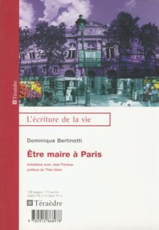 Couverture Etre maire à Paris