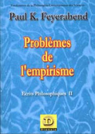 Couverture Problèmes de l'empirisme