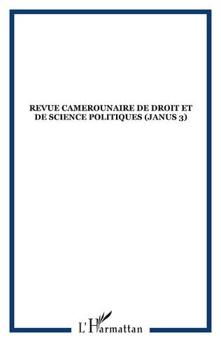 Couverture Revue Camerounaise de Droit et de Science Politiques (Janus 3)